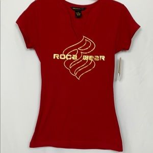 NWT Rocawear red short sleeved tee shirt size Med.